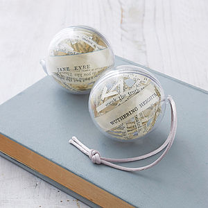 Set Of Two Literary Christmas Decorations - tree decorations