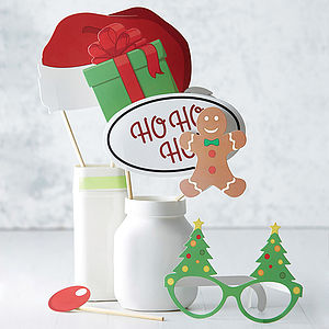 Christmas Photo Booth Party Prop Kit - pretend play & dressing up