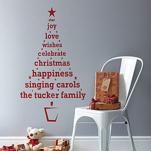 Personalised Christmas Tree Wall Sticker - shop by price
