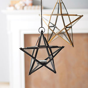 Antique Glass Star - lighting