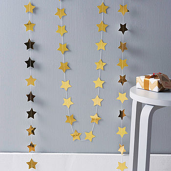 Metallic Star Paper Garland