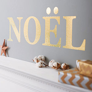 Personalised Glitter Letter Wall Sticker - metallic christmas