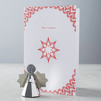 Silver Angel Decoration And Card