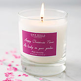 Personalised Scented Candle - gifts for her