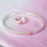 Personalised Hammered Heart Ring Or Bangle - gifts