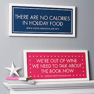 Personalised Motto Print - gifts for the home