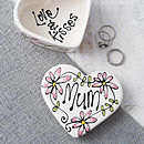 Personalised Ceramic Heart Box