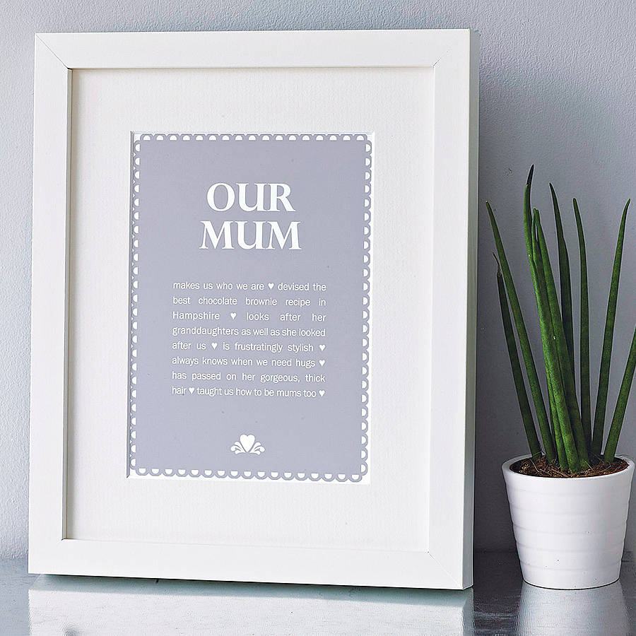 personalised \'our mum\' print by elephant grey | notonthehighstreet.com