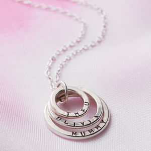 Personalised Family Names Necklace - birthday gifts