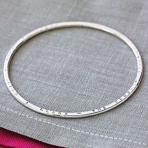 Personalised Message Bangle - gifts for her