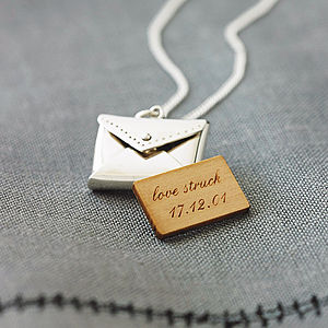 Silver Personalised Love Letter Necklace
