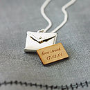 Sterling Personalised Love Letter Necklace