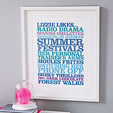 Personalised 'Likes' Poster Print - father's day