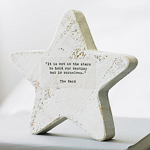 Personalised Wooden Star Keepsake - gifts for her