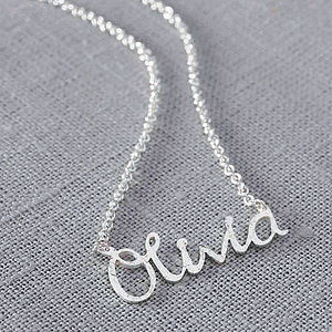 Personalised Handmade Silver Name Necklace - gifts £50 - £100 for her