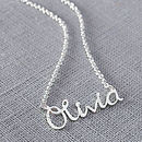 Thumb handmade personalised name necklace