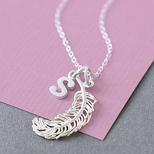 Silver Feather Necklace - gifts for her