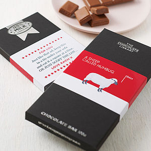 Personalised Funny Christmas Chocolate Bars - stocking fillers under £15