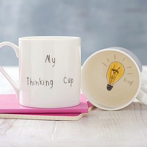 'My Thinking Cup' Mug - shop the christmas catalogue