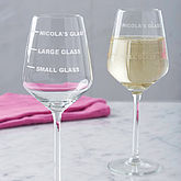 Personalised Drinks Measure Wine Glass - parties & entertaining
