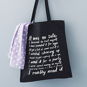 'It Was On Sale' Canvas Tote Bag - for friends