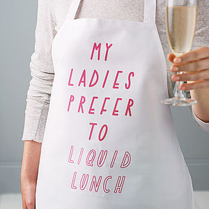 'Liquid Lunch' Apron - gifts for foodies