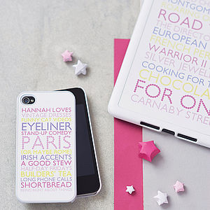 Personalised Case For iPad Mini - interests & hobbies