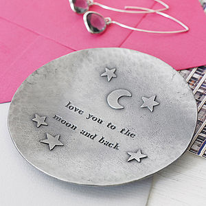 'Moon And Back' Trinket Dish - best gifts for her
