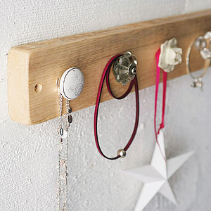 Reclaimed Wooden Jewellery Hook Board - jewellery storage & trinket boxes