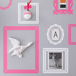 Pack Of Seven Picture Frame Wall Stickers - living room styling