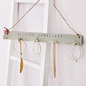 Personalised Jewellery Hook Board - bedroom