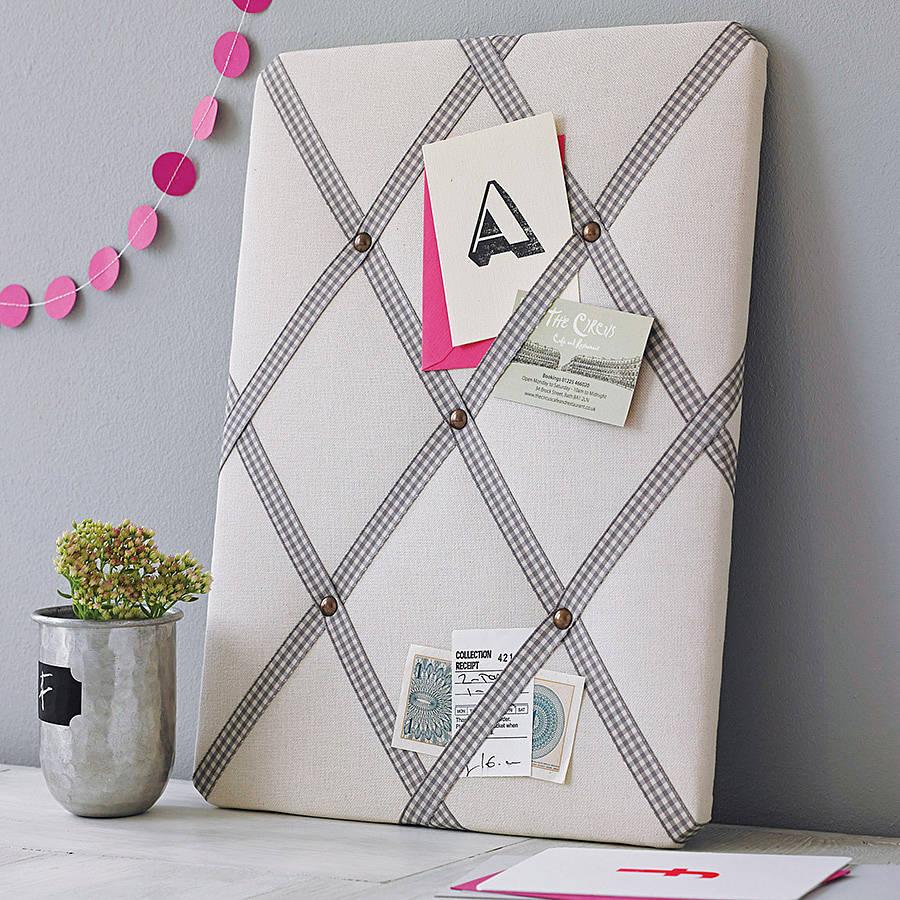 Cream Linen Noticeboard