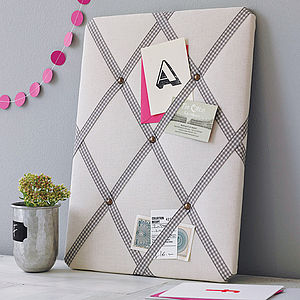 Cream Linen Noticeboard - for mothers