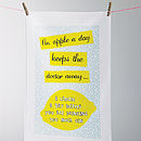 'An Apple A Day' Tea Towel