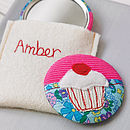 Personalised Cupcake Handbag Mirror