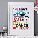 Thumb learn to dance in the rain print