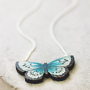 Zooey Wooden Butterfly Necklace - for friends