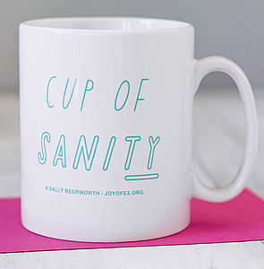 'Cup Of Sanity' Mug - for mothers