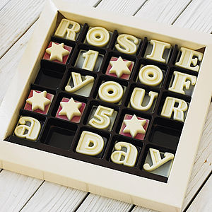 Personalised Chocolate Message - gifts under £25 for her