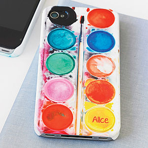 Personalised Paint Set Phone Case - birthday gifts for children