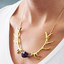 Thumb antlers necklace
