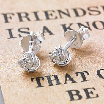 Friendship Knot Silver Earrings