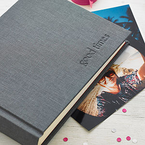 'Good Times' Photo Album - albums & guest books