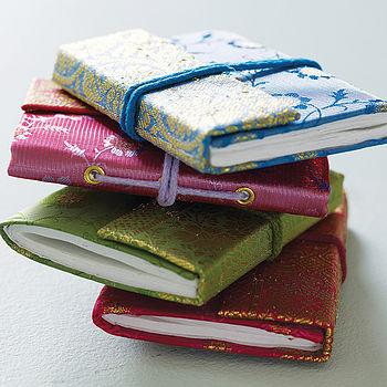 Fair Trade Sari Notebooks