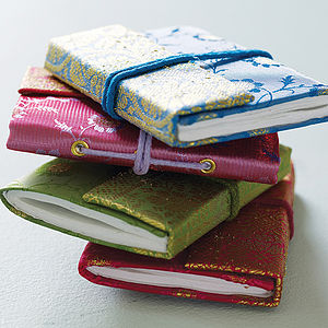 Fair Trade Sari Notebooks - best gifts for her