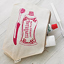 Toothpaste Print Wash Bag