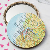 Personalised Map Location Compact Pocket Mirror - health & beauty