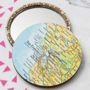 Personalised Map Location Compact Pocket Mirror
