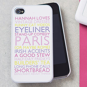 Personalised Case For iPhone - birthday gifts