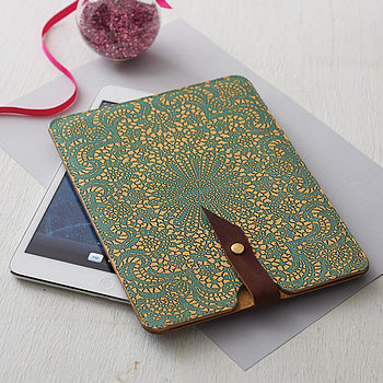 Leather Lace Case For iPad